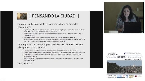 SEMINARIO INTERNACIONAL ESTRATEGIAS INTERVENCIÓN CONSERVACIÓN EN LOS CENTROS HISTORICOS. BEGOÑA SERRANO