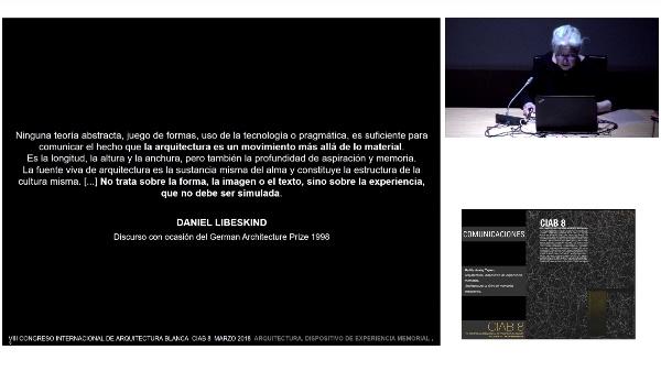 CIAB 8.COMUNICACIONES. Marilda Azulay Tapiero. Arquitectura, dispositivo de experiencia memorial.