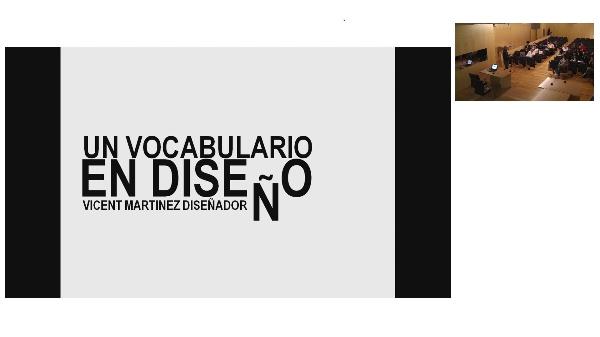 UN VOCABULARIO EN DISEÑO. VICENT MARTINEZ