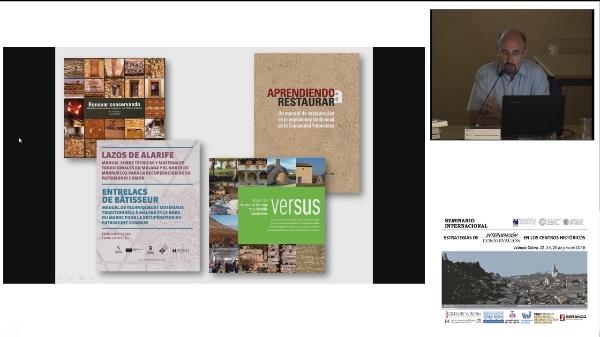 SEMINARIO INTERNACIONAL ESTRATEGIAS INTERVENCIÓN CONSERVACIÓN EN LOS CENTROS HISTORICOS. FERNANDO VEGAS, CAMILA MILETO