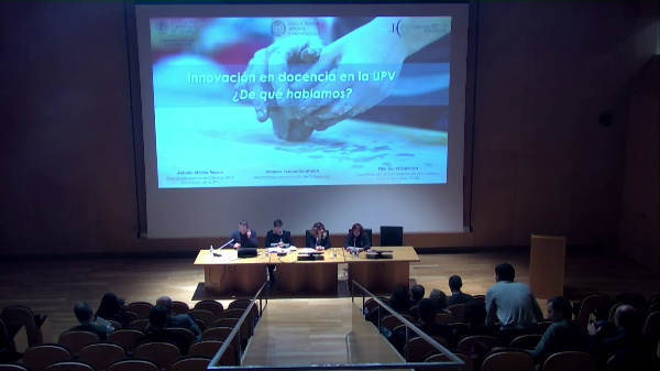 SEMINARIO DE INNOVACIÓN EN LA DOCENCIA DE ARQUITECTURA.CONF. ANTONIO MOLINA,AMPARO FERNÄNDEZ,PILAR BONET.