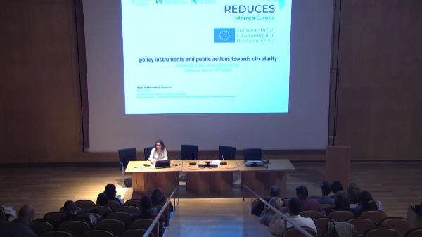 REDUCES Interreg Europe 2020Examples on how to apply circular economy principles in policy instruments to enhance the adoption of circular economy business models Nuria Matarredona, General Director Ecological Innovation in Construction, Generalitat Valenciana