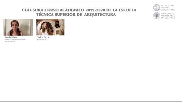 Final  de curso 2019-2020 Escuela Técnica Superior de Arquitectura. Menu.Video completo.VIDEO 1