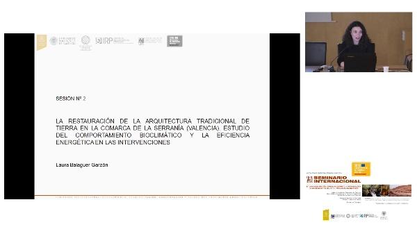 SEMINARIO INTER. DE ESTUDIO E INVESTIGACIÓN SOBRE EL RECONOCIMIENTO, LA REVALORIZACIÓN, LA CONSERVACIÓN Y EL RE-USO DEL PATRIMÓNIO ARQUITECTÓNICO. Laura Balaguer.