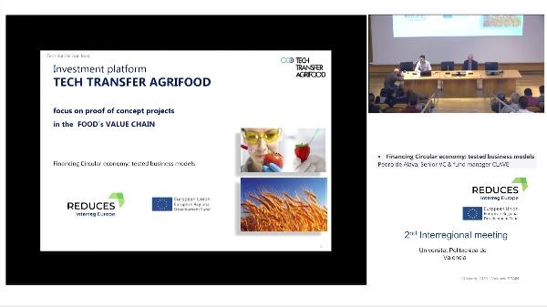 REDUCES Interreg Europe 2020.Financing Circular economy: tested business models Pedro de Alava, Senior VC & fund manager CLAVE .