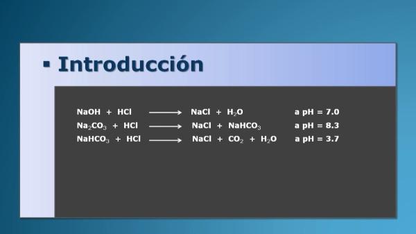 Determinación de hidróxido sódico en una muestra alcalina