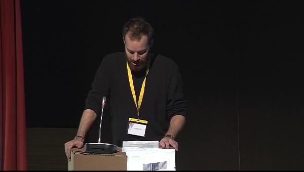 Ilustrafic 2. Conferencia de Ben Newman, presentada por Jonay Cogollos. Auditorio Alfons Roig, BBAA, UPV, Valencia.