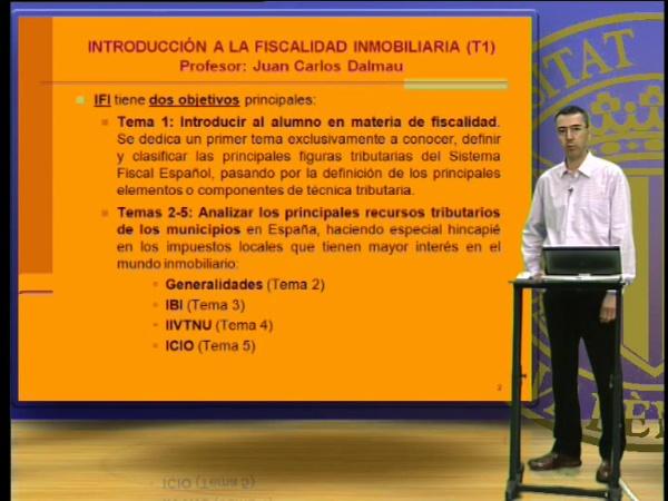 Introducción a la fiscalidad inmobiliaria. Tema 1
