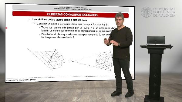 Técnicas de representación gráfica, tema 5, Cubiertas y balsas, parte 2