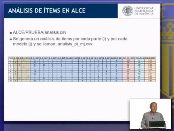 Analisis de ítems en ALCE