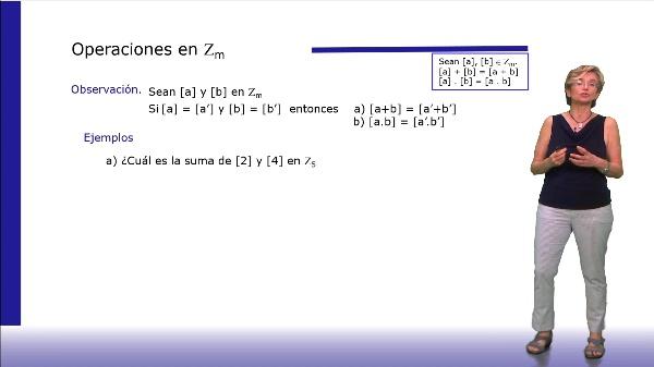 Definición de la suma y el producto en Zm