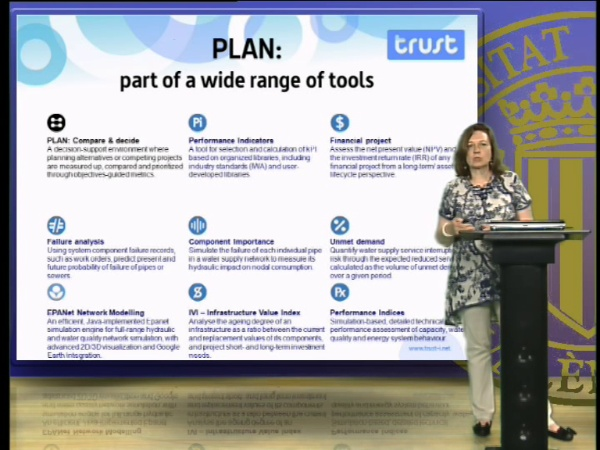 PLAN, a TRUST planning tool to support management decisions