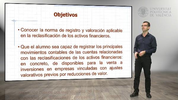 Reclasificación de activos financieros - de disponibles para la venta a inversiones en empresas vinculadas, con ajustes previos negativos