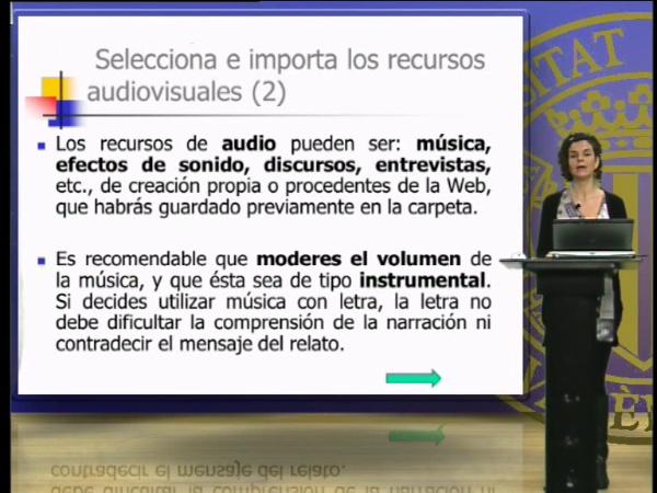 Seleccionar e importar recursos audiovisuales para la creación de un relato digital