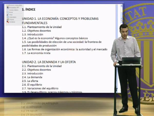Presentación de la asignatura, Introducción a la Economía