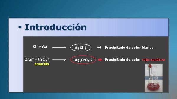 Determinación de cloruros en agua