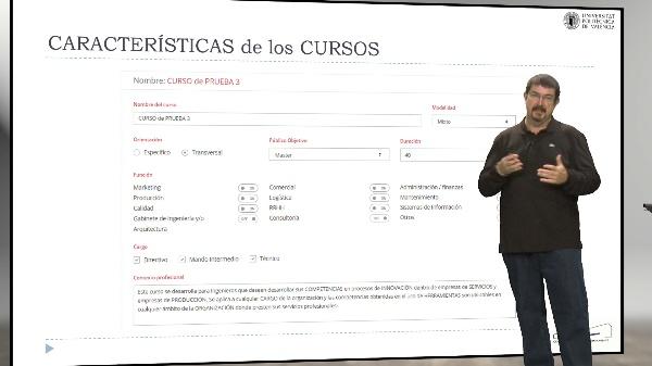 Proyecto Observatorio UPV. Características de los cursos.