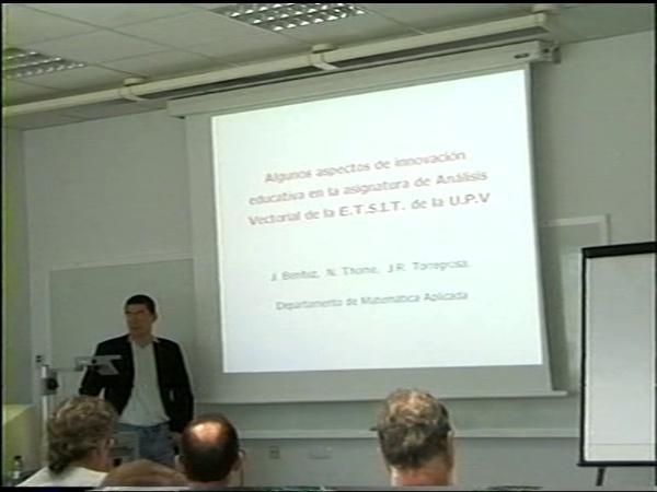 Comunicación 31, Algunos aspectos de innovación educativa en la asignatura ¿¿Análisis vectorial¿¿ de la ETSIT de la UPV (JIE)