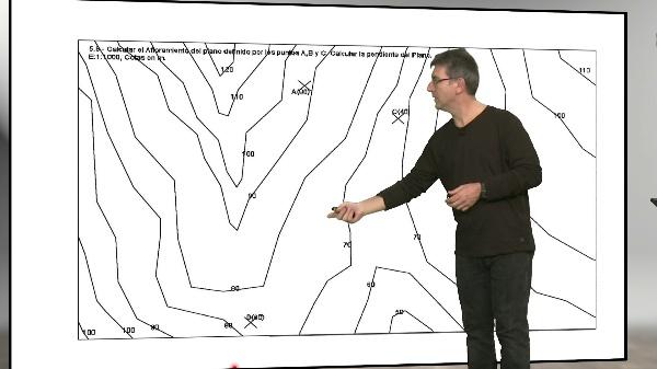 Técnicas de Representación Gráfica, Ejercicio de intersección de plano con terreno
