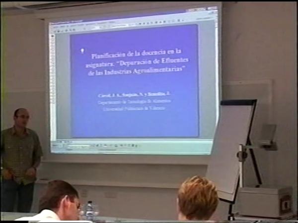 Comunicación 19, Planificación de la docencia en la asignatura ¿¿depuración de efluentes de las industrias agroalimentarias¿¿ (JIE)