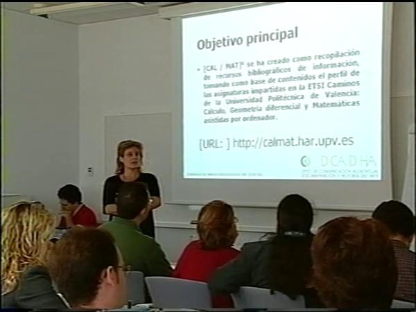 Comunicación 24, [CAL-MAT] Biblioteca Digital de Rrecursos de Información, complemento al portal de matemáticas de la escuela de caminos de la UPV (JIE)