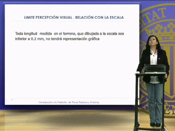 La escala en las representaciones gráficas y el límite de percepción visual