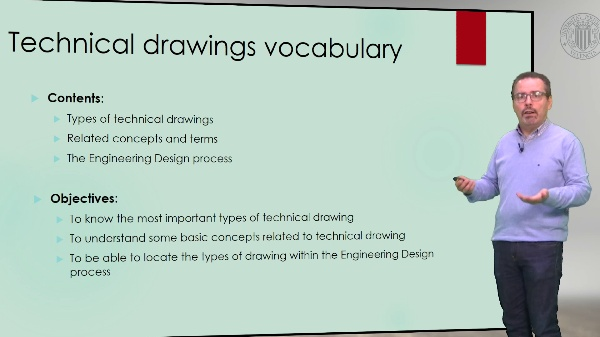 Technical English. Technical drawings vocabulary