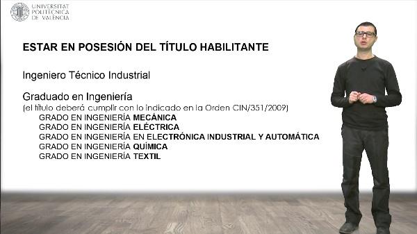 Requisitos para el ejercicio libre de la profesión de Ingeniero Técnico Industrial