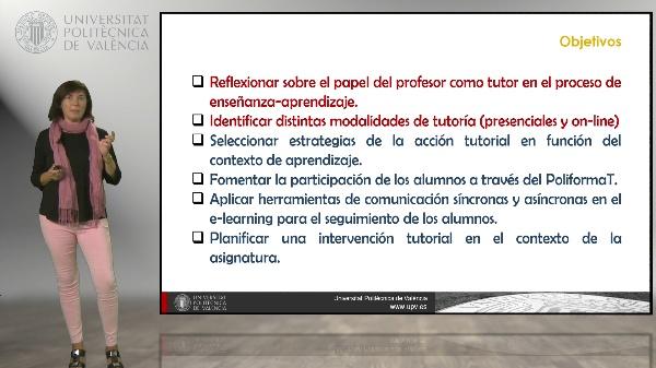 La tutoría y el seguimiento del trabajo del alumno, presentación de la asignatura