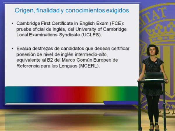 El examen oficial Cambridge First Certificate in English: introducción