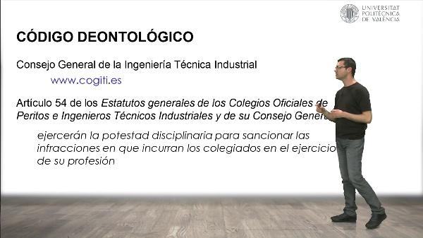 Código deontológico en el ejercicio libre de la profesión de Ingeniero Técnico Industrial