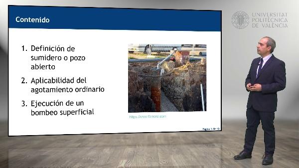 Drenaje de excavaciones mediante bombeos superficiales y sumideros