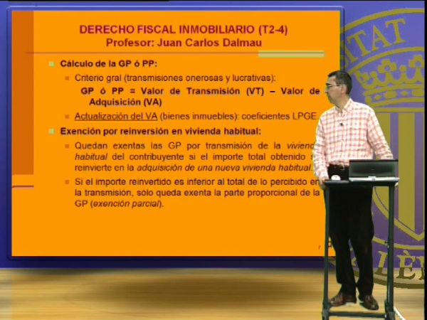 Derecho Fiscal Inmobiliario, temas 2 al 4