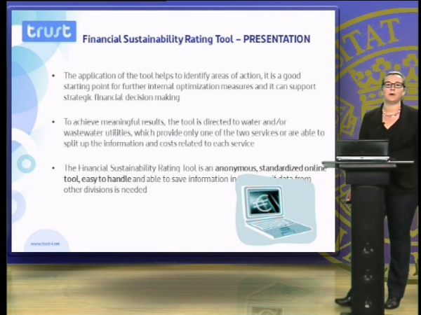 Financial sustainability rating tool