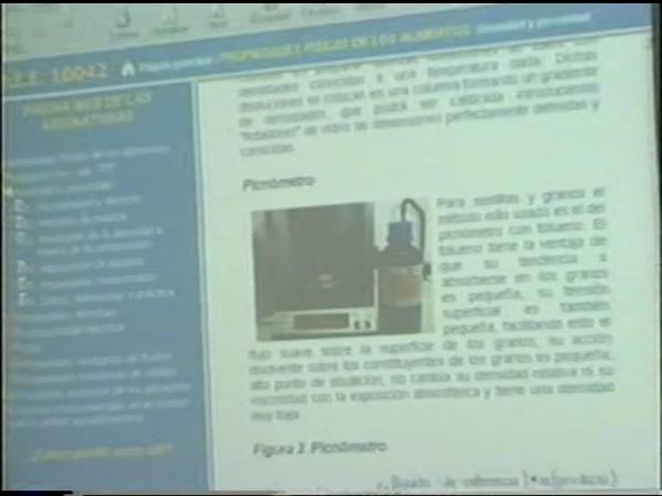 Comunicación 34, Elaboración de páginas WEB con contenidos docentes relacionados con las propiedades físicas y químicas de los alimentos (JIE)