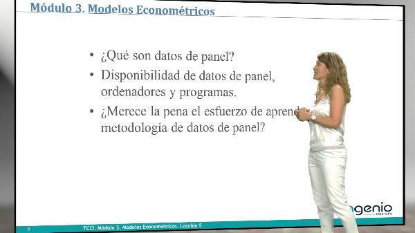 Modelos econométricos.Datos de panel
