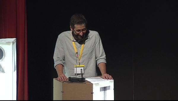 Ilustrafic 2. Conferencia de Golden Cosmos, presentada por Álvaro Sanchis. Auditorio Alfons Roig, BBAA, UPV, Valencia.