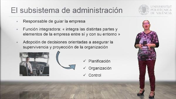 El subsistema de administración: la dirección de empresa