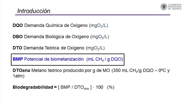 Determinación de la actividad metanogénica específica de un fango