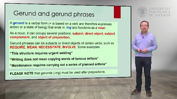 Technical English. Gerund and participial phrases