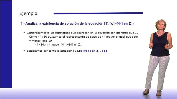 Ejercicios resueltos de ecuaciones en Zm