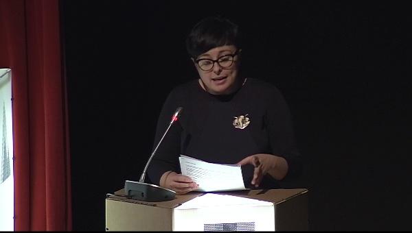 Ilustrafic 2. Conferencia de Catalina Estrada, presentada por Mar Hernández. Auditorio Alfons Roig, BBAA, UPV, Valencia.