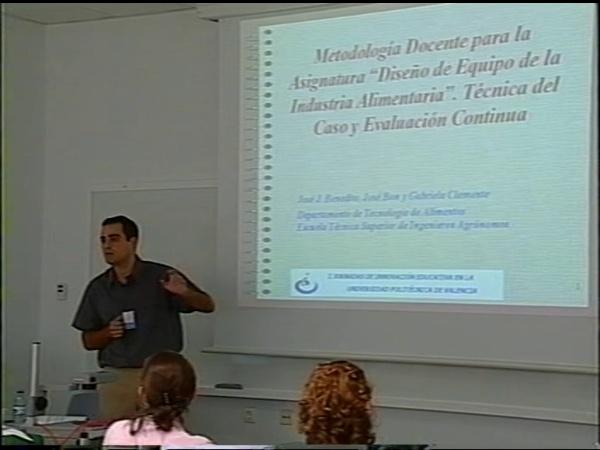 Comunicación 3, Metodología docente para la asignatura ¿¿Diseño de equipo de la idustria alimentaria¿¿ (JIE)