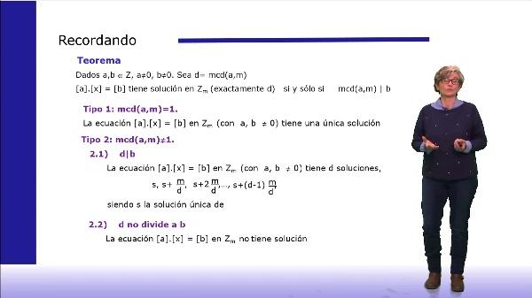 Ejemplo de resolución de una ecuación en Zm