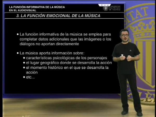 La función informativa de la música en el audiovisual