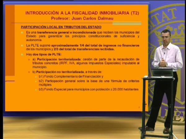 Introducción a la fiscalidad inmobiliaria. Tema 2