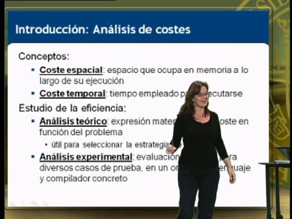 Análisis de costes de métodos recursivos