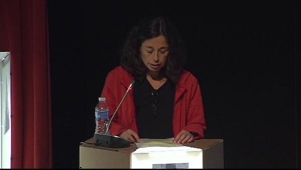 Ilustrafic 2. Conferencia de Álvaro Pons, presentada por Silvia Molinero. Auditorio Alfons Roig, BBAA, UPV, Valencia.