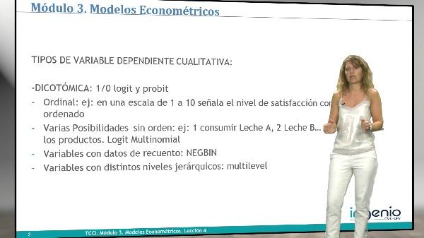 Modelos econométricos. Modelos con variables dependiente cualitativa