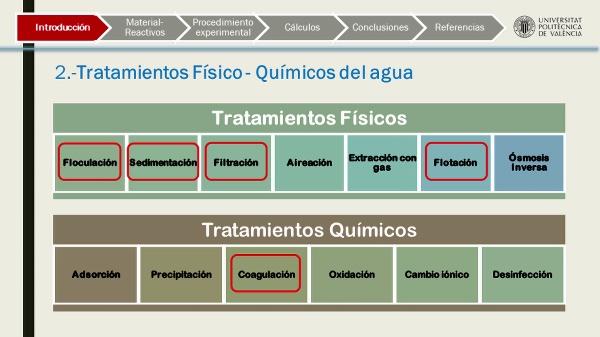 Tratamiento físico-químico del agua. Ensayos de coagulación-floculación